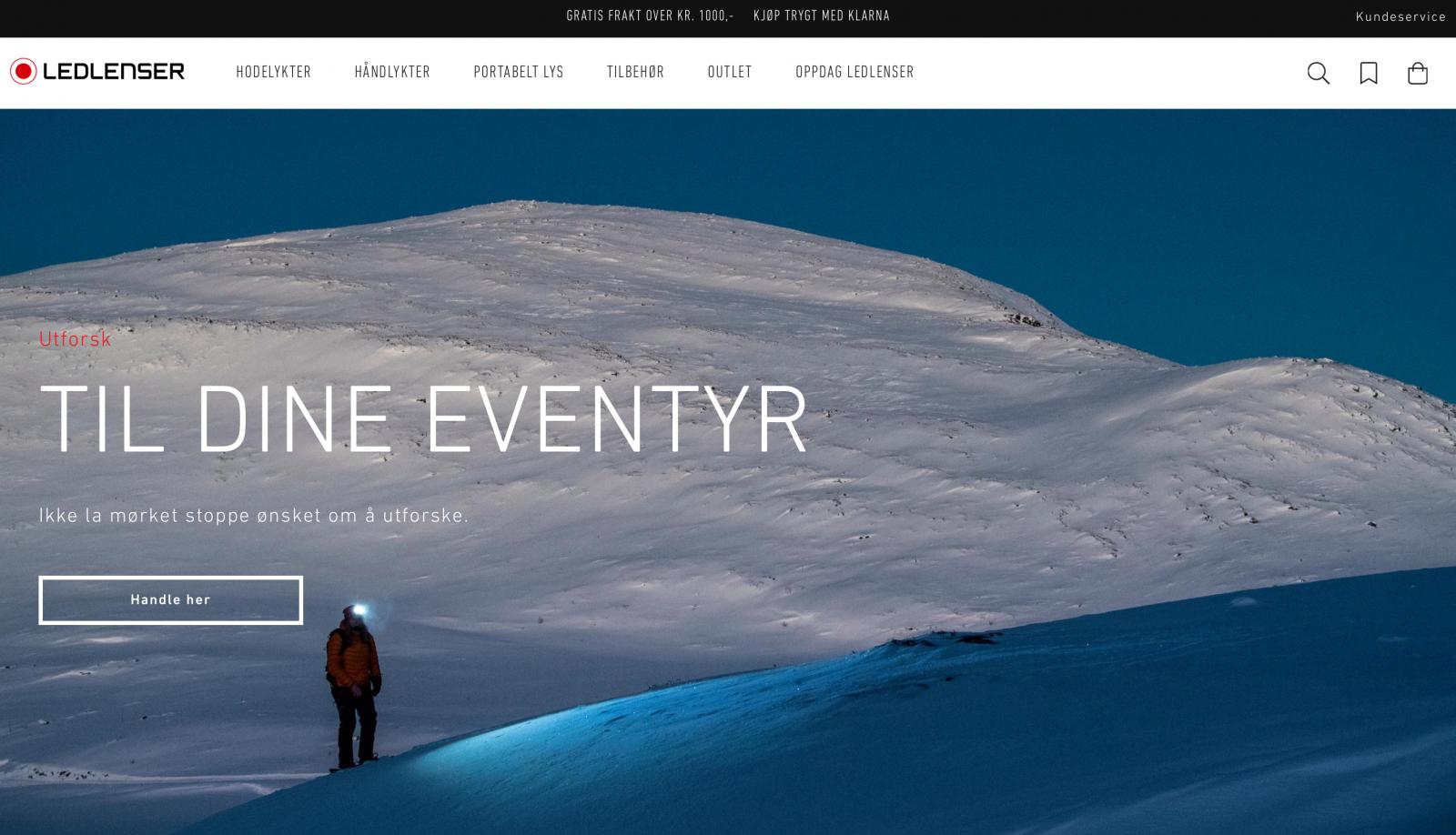 Startsidan för Ledlensershop